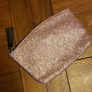 Rose Gold Glitter Ipsy Zippered Bag